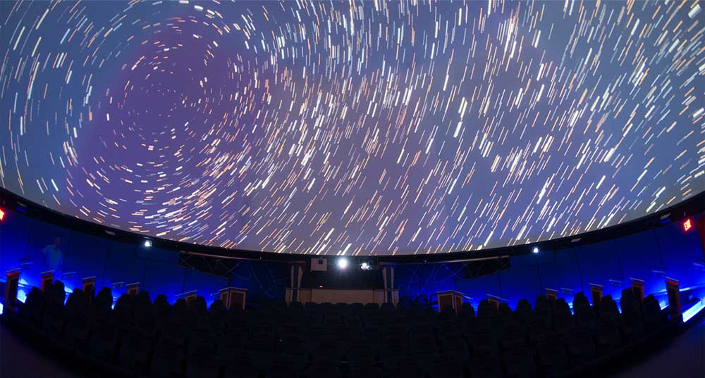 Planetarium display of stars in motion at the South Florida Museum in Bradenton, Florida