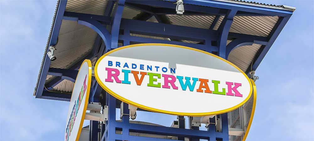 Bradenton Riverwalk sign