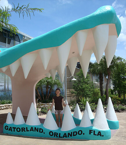 The original entrance to Gatorland in Kissimmee, Florida