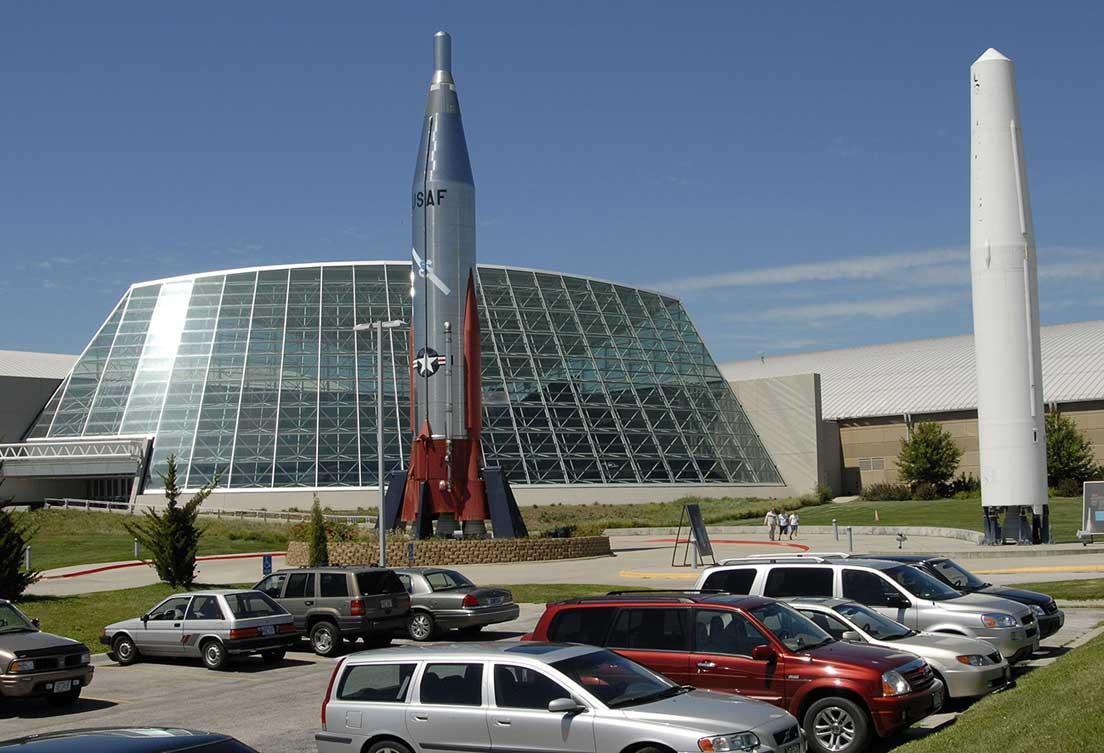 Exterior photo of the Strategic Air Command & Aerospace Museum in Omaha, Nebraska