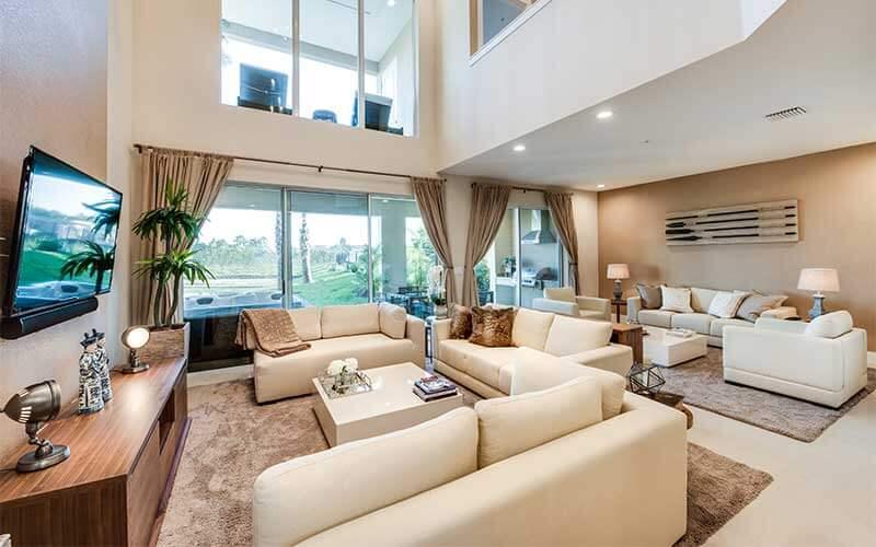 Living room of the Casa Duplex in Magic Village in Kissimmee, FL
