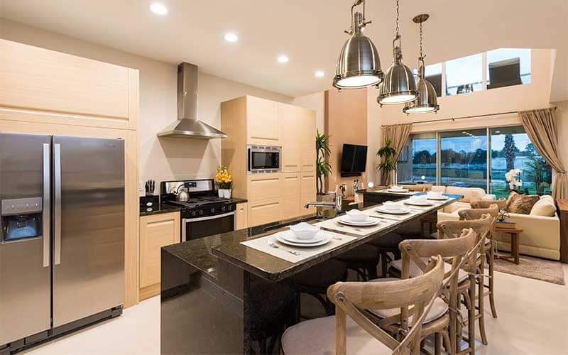 Kitchen and dining room of a vacation home in Magic Village in Kissimmee, FL