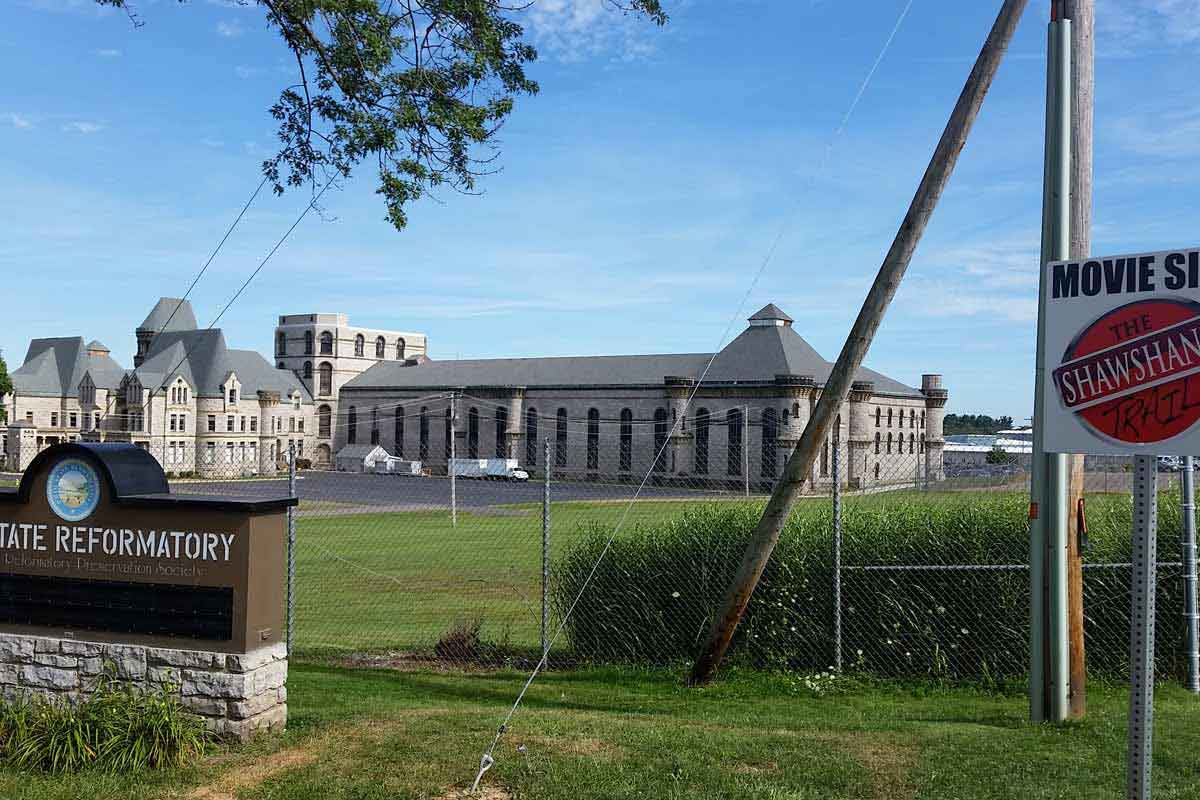 The Ohio State Reformatory, site of the Shawshank State Prison in Mansfield, OH