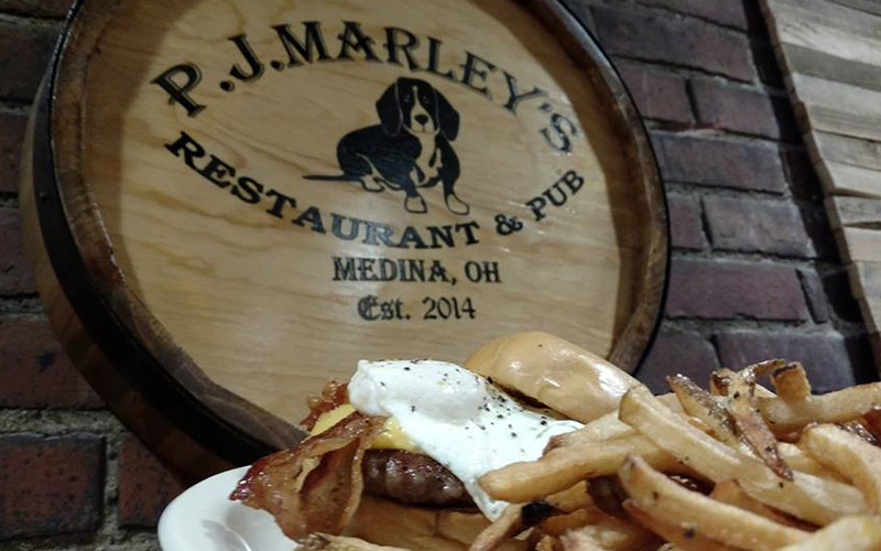 The Breakfast Burger from PJ Marley's in Medina, OH