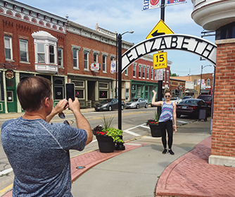 The historic town of Elizabeth in Galena Country, Illinois