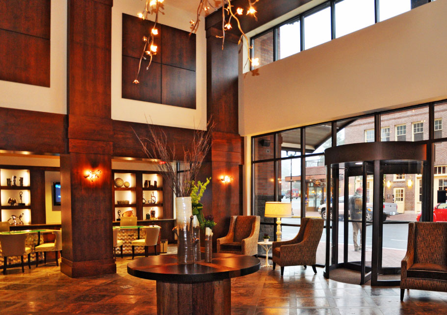 The lobby at the Oxford Hotel in Bend, OR